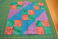 first attempt at quilting - jacob's ladder