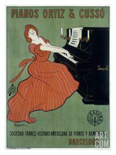 Pianos Ortiz & Cusso Giclee Print by Leonetto Cappiello at Art.com