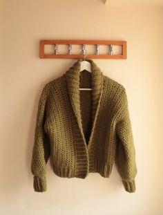 Crochet Cardigan Pattern Free Women, Knitted Coat Pattern, Diy Crochet Cardigan, Crochet Jacket Pattern, Crochet Coat, Crochet Clothes, Free Crochet, Crochet Patterns, Crochet Sweaters