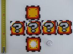 Cube lumineux Mario Retro Geek en Perles Hama                              …