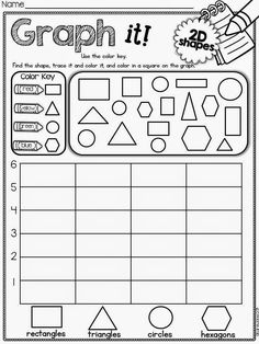 A way for checking shapes. Do together. Each child gets a shape to place on large graph paper