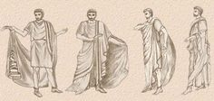 How to put on a toga. Also togas were used by most males during this time.