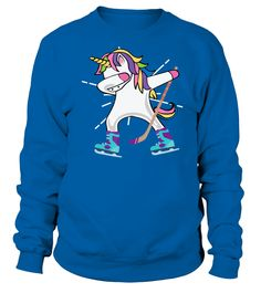 Dabbing Unicorn With A Hockey Stick Unicorn Sports Shirt T-Shirt (Sweatshirt Unisex - Royal Blue) hockey dad, gifts for hockey players, hockey sock #mommylife #edmonton #familyiseverything, christmas decorations, thanksgiving games for family fun, diy christmas decorations