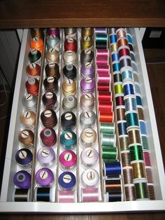 I NEED to do this now, before I get very many more spools.  Organize at the beginning of the set up.