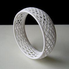 Lattice Two bracelet by Anthony Tammaro - 3d printed