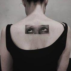 Man Ray inspired crying eyes.