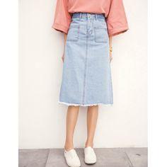 f3e783dba43 Summer autumn jean Skirt plus size high waist vintage casual long A Line  denim skirt women Pocket tassel skirts-in Skirts from Women s Clothing ...