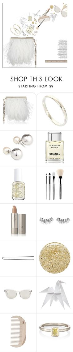 """""""White Ostrich Feathers."""" by s-elle ❤ liked on Polyvore featuring Jimmy Choo, Yoko London, Chanel, Essie, esum, Urban Decay, Hershesons, Lancôme, Dolce&Gabbana and Hermès"""