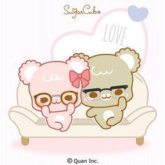 Chibi Cat, Cute Chibi, Cute Love Pictures, Cute Images, Cubs Wallpaper, Tonton, Sugar Bears, Latte, Cute Bears
