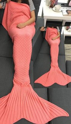 Home Décor Home & Garden Fashion Uk Womens Ladies Knitted Mermaid Fishtail Lapghan Cocoon Warm Cozy Blank Fragrant Aroma