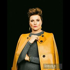 Lucy Lawless for Build Series NYC.