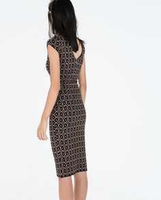 Image 4 of JACQUARD DRESS WITH LOW BACK from Zara