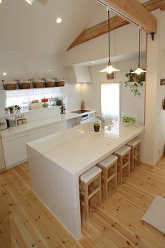 I like kitchen! French Kitchen Decor, Home Decor Kitchen, Kitchen Interior, Home Interior Design, Home Kitchens, Modern Bungalow House, Modern Tiny House, Ikea Kitchen Design, Home And Deco