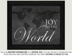 Christmas Chalkboard Home Decor Print Art  Joy by SassyGraphicsNow, $3.00