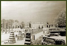 Whitemarsh Hall gardens covered for the winter. Thanks the Fans of Whitemarsh Hall Facebook Group for the pic.