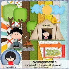 FREE ElaineFasoarte Kit Acampamento [blog train]