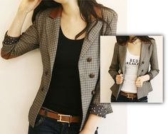 http://www.storenvy.com/products/1442983-elegance-double-breasted-button-style   Gender: Women Item Type: Blazers is_customized: Yes Clothing Length:Regular Pattern Type:Plaid Sleeve Length:Full