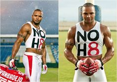 Baltimore Ravens' Brendon Ayanbadejo supporting NOH8!