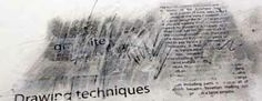 Ian Murphy  Texture Explosion series Graphite and Text