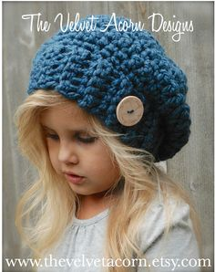This is a listing for The PATTERN ONLY for The Nevaeh Slouchy This hat is handcrafted and designed with comfort and warmth in mind... Perfect for layering through all the seasons... This hat makes a wonderful gift and of course also something great for you or your little one to wrap