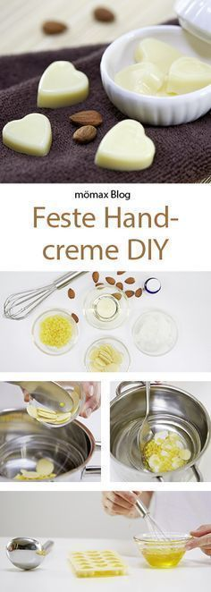 Feste Handcreme einfach selber machen! DIY                                                                                                                                                                                 Mehr