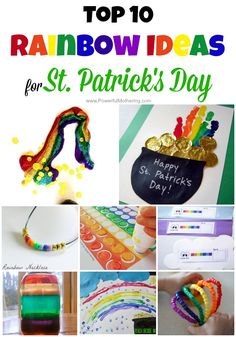 a few gorgeous rainbow inspirations for st patricks day celebrations with your toddler and preschooler!