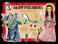 Saint Philomena dress up magnetic paper doll by magneticcatholic