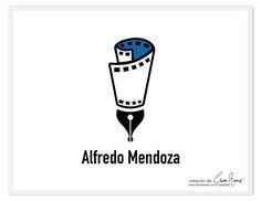 """Logotipo de """"Alfredo Mendoza"""" #Guionista ¿Te gustaría una #logotipo?  Pide presupuesto por mensaje o al cel. (686) 194 4627 📲 💌 #claudiaramirez #graphicdesign #Ilovemyjob #mexicali"""