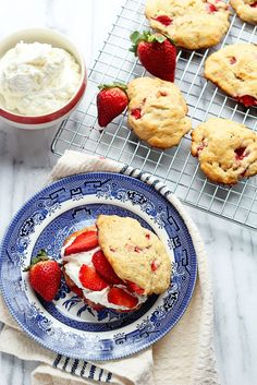Strawberry Shortcakes Made with Strawberry Biscuits! So delicious and perfect for Spring and Summer! ~ http://www.grandbaby-cakes.com