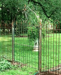 Great Gate with Matching 5 Fencing, Lead contender for garden entrance