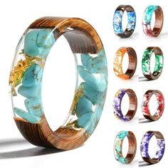 Cheap Rings, Buy Directly from China Suppliers:New Design Colorful Rings for Women Men Clear Wood Resin Ring Vintage Party Club Handmade Dried Flower Epoxy Rings Drop Shipping Resin Ring, Resin Jewelry, Jewelry Rings, Fine Jewelry, Flower Jewelry, Couple Jewelry, Ring Set, Love Ring, Vintage Party
