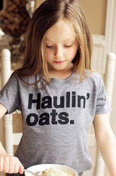 "Kids ""Haulin' Oats"" Tee Shirt By Hatch For KidS"