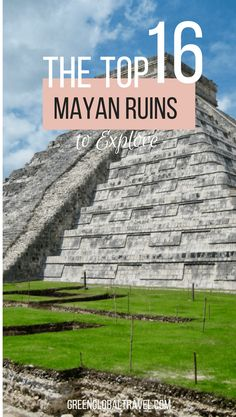 Check out our picks for the 16 Best Mayan Ruins to Explore, including archaeological sites such as Actun Tunichil Muknal, Caracal, Chichen Itza, Cobá, Tikal, Tulum, Xunantunich & more. Mayan Ruins Mexico | Mayan Ruins Belize | Archaeological Ruins