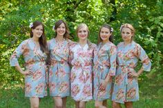 Robes by silkandmore - Silver Floral Posy Robes for bridesmaids | Getting Ready Bridal Robes, $25 (http://robesbysilkandmore.com/silver-floral-posy-robes-for-bridesmaids-getting-ready-bridal-robes/)