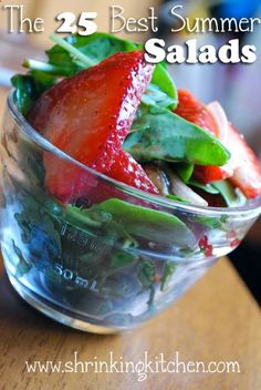 Weve combed the internets to bring you The 25 Best Summer Salads from some of your favorite food blogs, including the Shrinking Kitchen. Weve covered every ingredient - chicken, salmon, beef, fru...