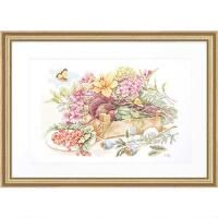 Lanarte In the Garden Counted Cross-Stitch Kit