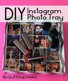 CUTE DIY Instagram Photo Tray!