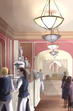 Ipad Sketch - 'Cafe Louvre, Prague.' Painting of my pencil sketch, using an ipad 2, Procreate, and a basic Wacom stylus. davidasutton.com @davidasutton #sketch #czech #prague #europe #art #illustration #ipad #ipadpainting #ipadart #procreate #cafelouvreprague