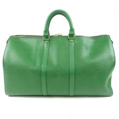 LOUIS VUITTON Epi Keep All 45 Boston Bag Green M42974 Used F/S