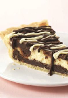 Cream Cheese Brownie Pie – A flaky pie shell holds two layers of fudgy brownie batter separated by a ribbon of creamy cheesecake in this luscious dessert recipe.