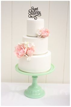 Original Sweet Sixteen Cake Topper  16th by ThePinkOwlDesigns, $20.00