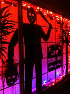 #Halloween window #silhouette Friday the 13th
