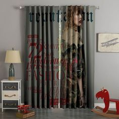 3D Printed Taylor Swift Style Custom Living Room Curtains – Westbedding