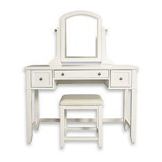 Vista Vanity Set with Mirror in White