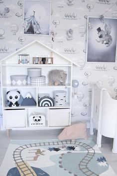 Inspiration from Instagram - @charnelia80 -blue, black and white, boys room ideas, grey, black and white boys room, Scandinavian style, monochrome design kids room ideas