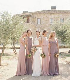 Dusty rose bridesmaid dresses / http://www.deerpearlflowers.com/28-dusty-rose-wedding-color-ideas/2/
