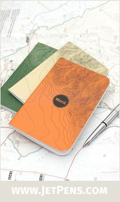 Designed to mimic a topographic map, the new Word Notebooks Terrain Edition is the perfect companion for a hiking trip.
