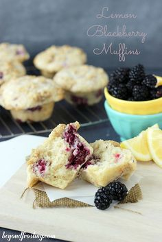 Blackberry Lemon Muffins | beyondfrosting.com | #muffins by Beyond Frosting, via Flickr