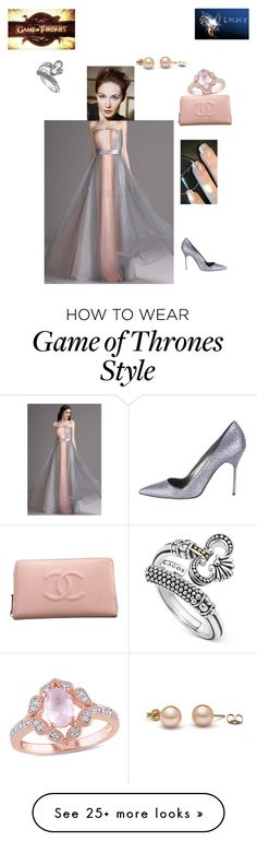 """Carice Van Houten of ""Game of Thrones"" 68th Primetime Emmy Awards 2016"" by ejmfashionista on Polyvore featuring Chanel, Amour, Lagos and Manolo Blahnik"
