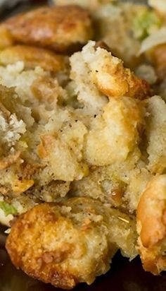 Grandma's Thanksgiving Turkey Stuffing ~ This is a long-time family recipe for simple and savory turkey stuffing... Bake it in the oven or in the turkey!